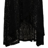 Small Quantity Custom Dropshipping Retro Inspired Dancing Black Lace Skirts
