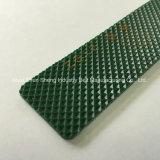 2mm diamant plat courroies transporteuses PVC vert pour le distributeur