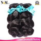Волосы бразильских волос естественные черные (QB-BVRH-LW)