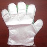 Guanto monouso di plastica biodegradabile di controllo medico