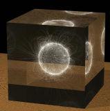 laser 3D que graba el cubo del vidrio cristalino con los recuerdos de la foto del bebé