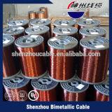 Fio de alumínio folheado do cobre elétrico do fio