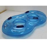 Tubo gonfiabile del pattino di acqua del PVC di colore giallo doppio per la sosta dell'acqua