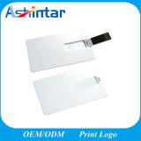 Support Logo Impression Plastique U Disque Carte de crédit USB Flash Drive
