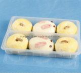 Weiße gedämpfte Brötchen u. Brot-Plastiktellersegment