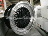 A liga fina do carro do projeto roda bordas para carros