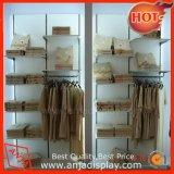 Soporte de madera y del metal de visualización para la ropa interior