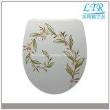 Europa-Standardblumen-selbstschließend Toiletten-Sitzdeckel