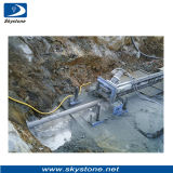 Onderaan de Machine van de Boor van het Gat voor de Mijnbouw van het Graniet