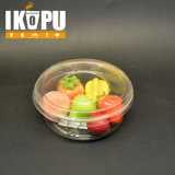 Ciotola di plastica dell'insalata a gettare con il coperchio di plastica