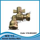 Winkliges verschließbares Messingkugelventil (V18-802A001)