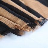 Geometic a estampé l'écharpe de polyester avec le tissu en arête de poisson (HWBPS33)