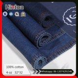 Ткань 100% джинсыов синего хлопка ткани джинсовой ткани тонкая 4oz