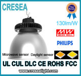 Luz elevada do louro do diodo emissor de luz do UFO de Dlc IP65 100W do cUL do UL