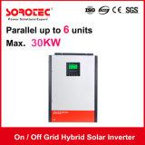 Grille on/off hybride solaire onduleur 4kVA avec 48V 80A Contrôleur de charge solaire MPPT