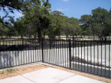 Western Basic Simple Powder Coated (3/2 Rails) Securitygarden Fence