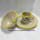 [إنملور] طاولة [تا كب] لوحة محدّد مينا طبق مسطّح يخيّم فنجان قصدير حديد قصع