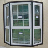Bogen-Aluminiumfenster-Rahmen-Entwurfs-Glasgitter-Entwurfs-Fenster