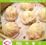 Folhas de dupla lados personalizadas Revestimento de silicone revestido de papel Dim Sum para alimentos a vapor