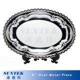 Placa de cerámica blanca en blanco de la sublimación con el soporte