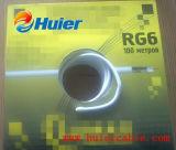 Venta de la alta calidad de RoHS RG6 Rg59 CATV Cable con 100m Bobina de embalaje