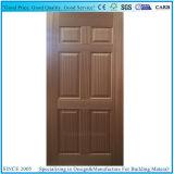 自然な木のベニヤの直面されるか、または環境に優しい形成された木製のドアの皮