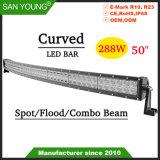 288W 50inch Offroad barre LED 4X4 LED lumière LED incurvée des feux de conduite Bar