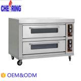 Zujubelndes 2 Tellersegment-HandelsEdelstahl-Küche-elektrisches Ofen-Backen-Gerät der Schicht-6
