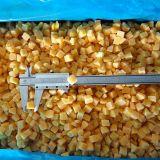 Gefrorener gelber Pfirsich würfelt mit Qualität