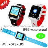 Sosの非常呼出Y3を用いる子供の安全のための防水GPSの追跡者の腕時計