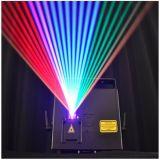 RGB Full Color 3000MW Mini Animation Programmable Laser Light Show 100kHz 90 - 240 V AC