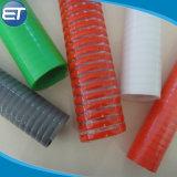 Hélice de PVC reforzado estriada Fleixble corrugado espiral de la manguera del tubo de aspiración
