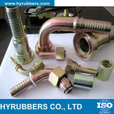 Boyau hydraulique flexible de boyau tressé de Hyrubbers solides solubles avec des garnitures