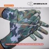 K-113 misst eckiges Polyester-/Nylonnitril-Palmen-Beschichtung-Arbeitssicherheits-Handschuh ab