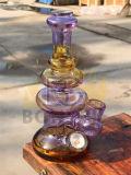 Tubo di fumo di vetro popolare dell'acqua con i vari disegni