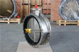 Il doppio dell'acciaio inossidabile ha flangiato valvola a farfalla (CBF01-TF01)