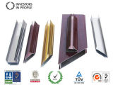 Profils en aluminium/en aluminium d'extrusion pour le guichet en verre de tissu pour rideaux