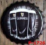 飲み物のロゴ3Dの金属の印が付いている方法によって浮彫りにされる金属の印