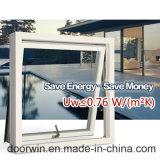 保管エネルギーガラスが付いている終了する白いカラーPainttingのアルミニウム覆われた木製のWindows