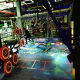 新しいデザイン- 3D多彩な印刷のPVCおよびゴム体操のフロアーリング
