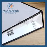 Sac de cadeau en papier orange et noir avec bordure (DM-GPBB-069)