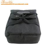 Il sacchetto nero della pizza del poliestere può imballare la casella due con la maniglia