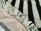 Serviette de plage de gros 2018 Ronde coton Serviette de plage Fringe d'impression