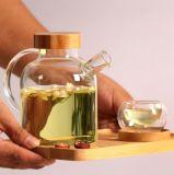 創造的なデザインガラス製品のガラス茶水差しの一定のPyrexの茶水差しの茶鍋