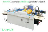 540mm3 automático de un rollo de papel tamaño A4 Película revestido de laminado en caliente el calor y la máquina de estampación