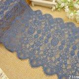 20cm 정돈 자수 파란 털실 레이스 직물 의복 부속품 직물