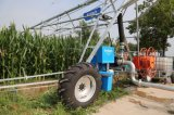 Système d'irrigation de deux roues à déplacement latéral