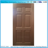 自然な実質のSapelliの木製のベニヤによって形成されるパネル・ドアの皮の合板