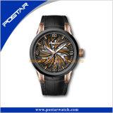 革時計バンドの自動腕時計