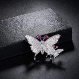 Brooch d'imitazione della farfalla del doppio dei monili di Zircon di alta qualità